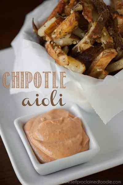 Chipotle aioli, the best dip for your fries