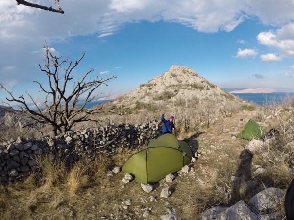 High altitude base camp on the northern Croatian coast near Senj