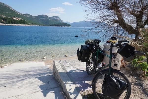 Quick swim stop near Zuljana, Croatia