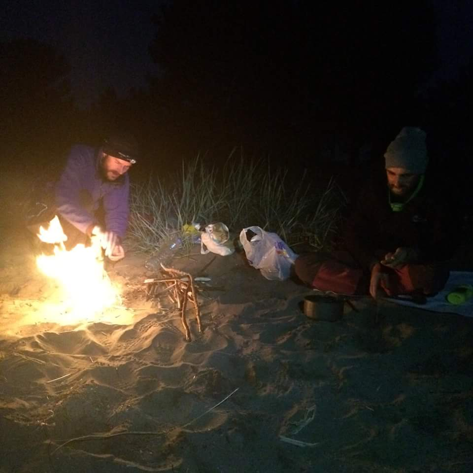 Camping with Volkan and Ozkan (credit: O. Yamac)