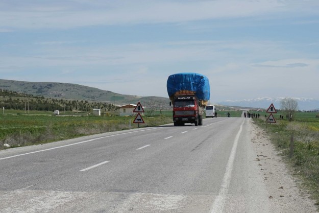 These lumbering beasts are a constant feature of the Turkish roads, although almost all very considerate drivers.