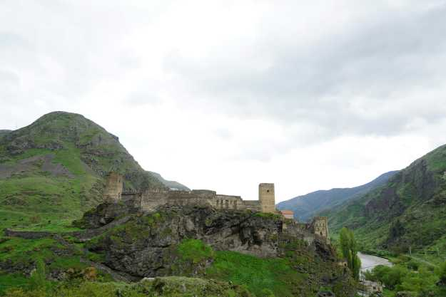Castle next to Paravani hydropower station