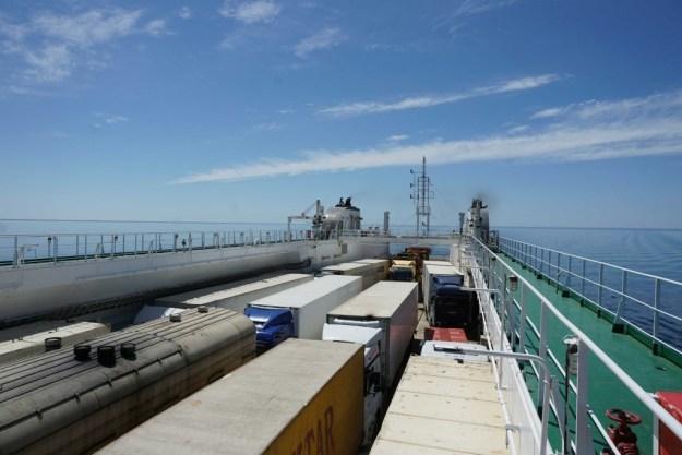 Cargo deck of Balakan