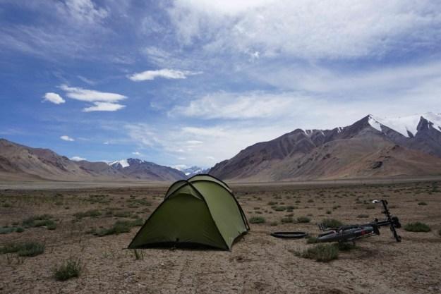 Camping at 4200m