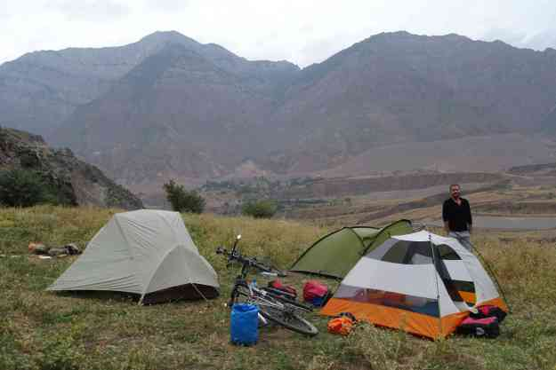 The campsite that killed my kit, near Obigarm. Photo credit: I.Mathews