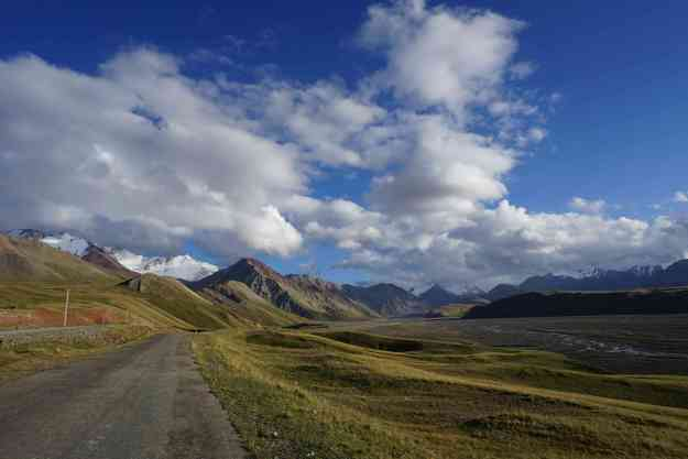 Lower reaches of the descent of the Kizil Art pass, looking back towards Tajikistan border