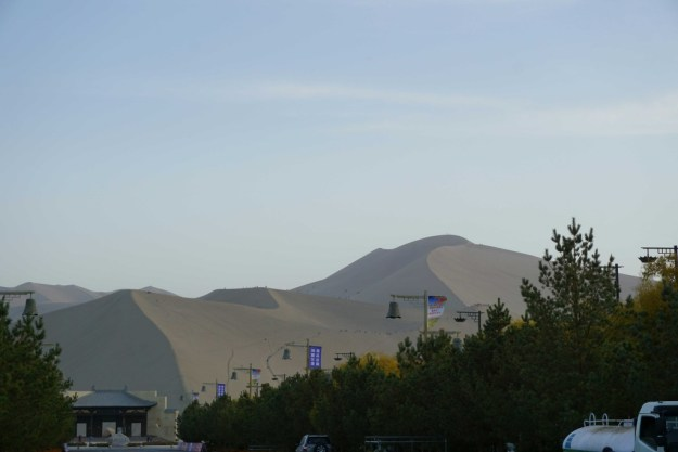 The great dunes of Dunhuang.