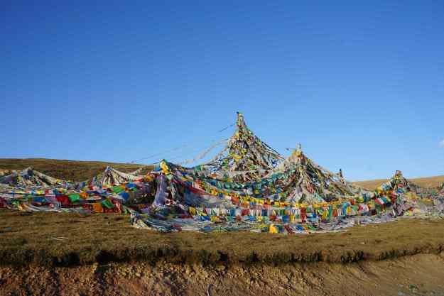 Prayer flags - the iconic image of the Tibetan region
