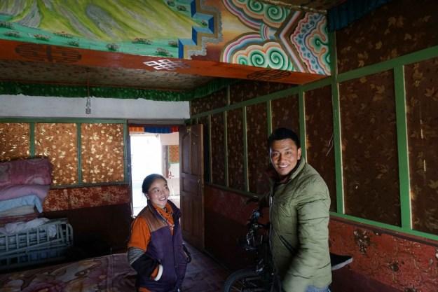 My hosts in a homestay, Serxu, Sichuan