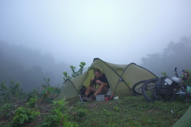 Breakfast in the cloud forest. Photo credit: T. Roininen