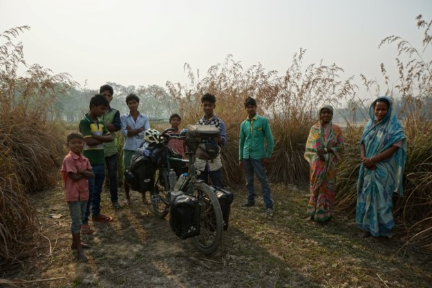 Villagers seeing me off in Assam.