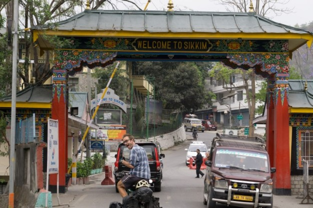 Over the border into Sikkim at Rangpo. Photo credit: M. Walther