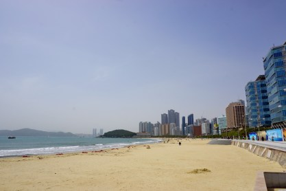 Haeundae Beach, Busan. Not my favourite of Busan's beaches, but probably the one I visited most.