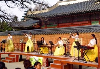 Traditional music performance in Gyeongbokgung Palace, Seoul.