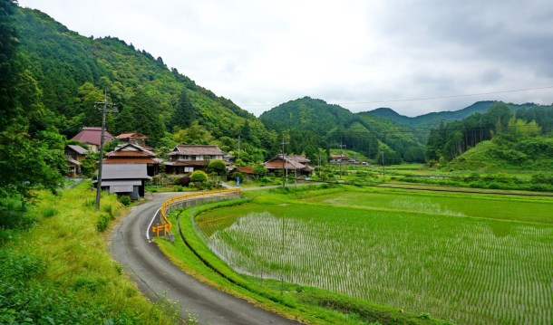 Quiet backroads on southern Honshu