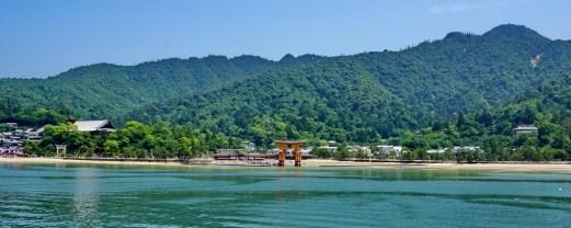Approaching the UNESCO world heritage site of Miyajima Island