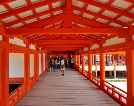 Inside Itsukushima sea shrine,