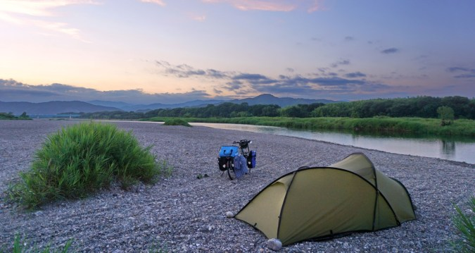 One of my all time favourite camps, next to the Niyodo river near Tosa, Shikoku