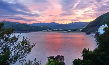 Looking back to turtle beach, Minami, Shikoku