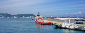The last of many ferries that I took in Japan. This one from Kurihama to Kanaya, on the Chiba peninsula