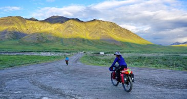 Southbound descent of the Atigun Pass to the Chandalar River
