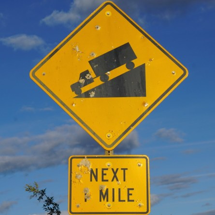 This became our favourite roadsign on the rollercoaster into Fairbanks.