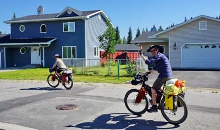 Adam and Julie leaving Fairbanks.