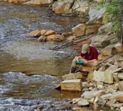 Gold panner, Wade Creek