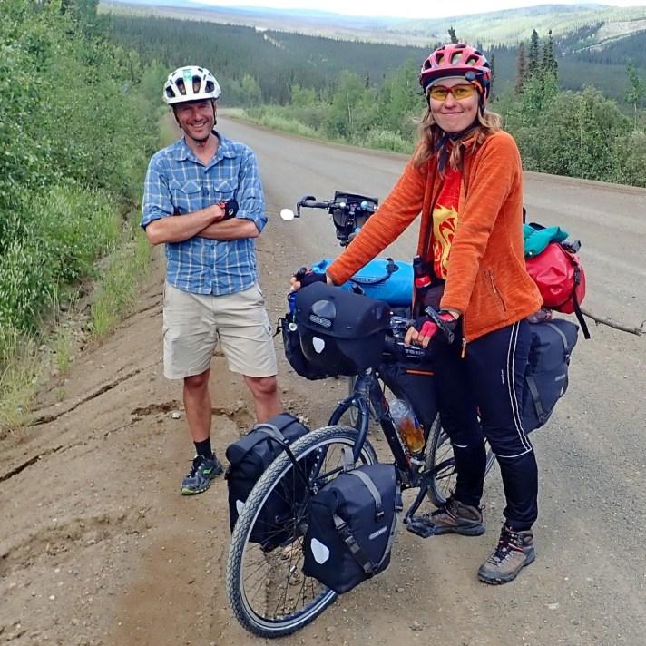 With Russian adventurer, Tatyana. Photo: A.Hughes
