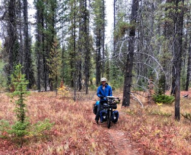 On the single track through the Swamp of Doom. Photo: S.Coackley