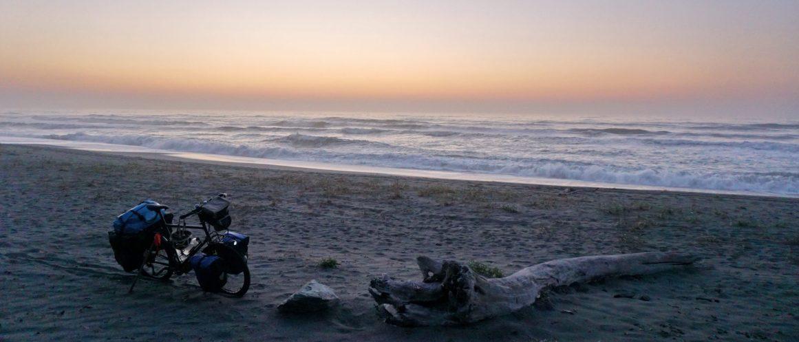 Stealth camp on the beach near Stone Lagoon, California