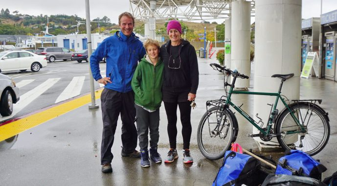 With my saviours Harry and Jeanne at the Larkspur Ferry terminal, San Francisco Bay