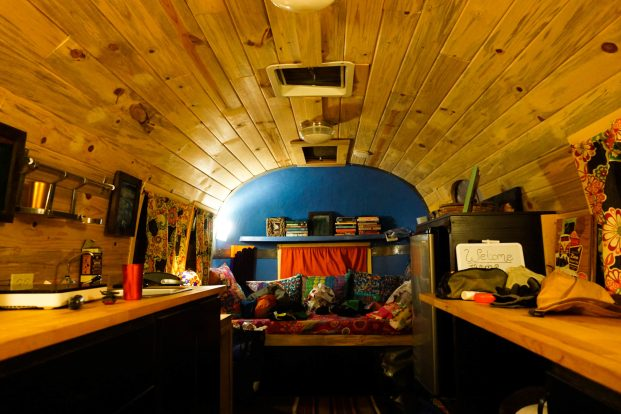 Super cosy lodgings in Robin and Tracey's rennovated Airstream caravan, Rockville, Utah