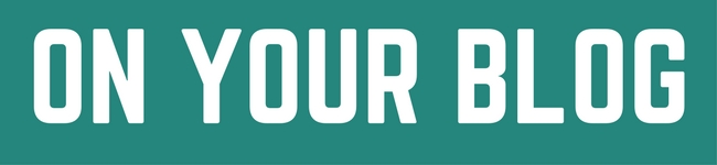 On your blog Banner
