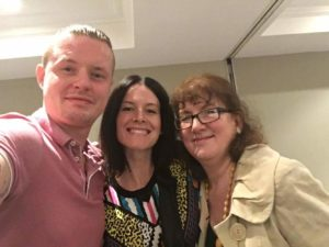 Selfie of Ben, Jessica and Debbie