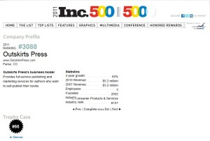 Outskirts Press Inc. 5000 2011