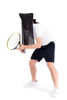 I am playing tennis.