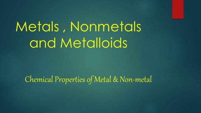Chemical Properties of Metal & Non-metal