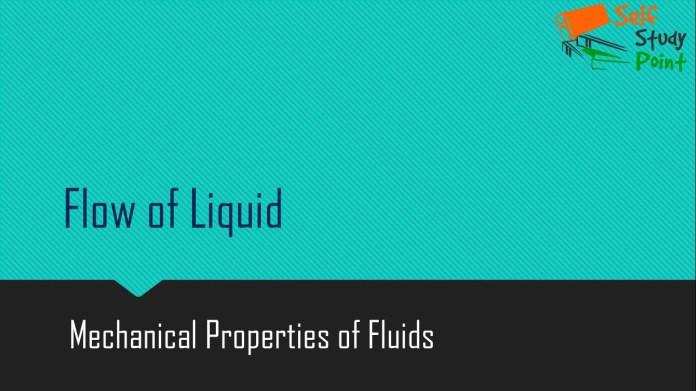 Flow of Liquid