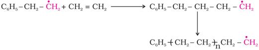 Chain propagating step