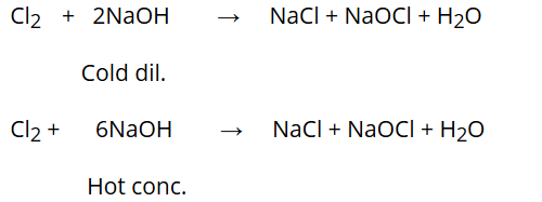 Reaction with NaOH