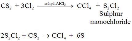 Preparation of Tetrachloromethane