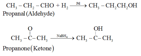 Preparation of Alcohols From carbonyl compounds: