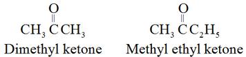 Common names of ketones