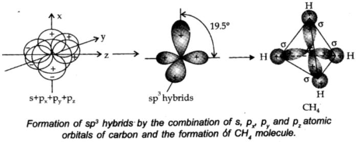 sp3 hybridisation