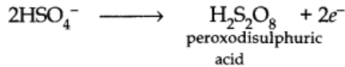 Preparation of Hydrogen Peroxide by electrolysis of dilute H2SO4