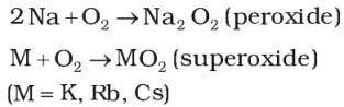 Reactivity towards air