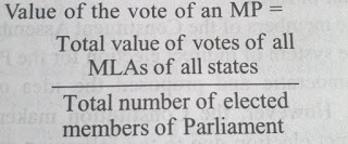 Value of the vote of an MP
