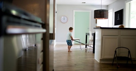 Kids benefit from doing daily chores
