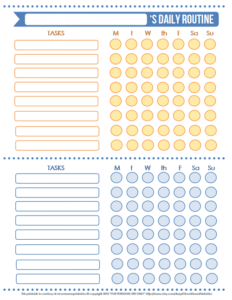 A bowl full of lemons chore chart